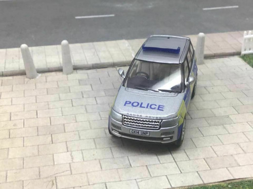1/76 Code 3 Police Oxford Diecast Silver Range Rover