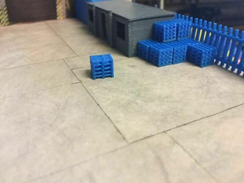 1.148 3D Printed Blue Pallet Stacks - 20pkt