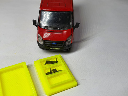 1:76 scale Ford transit mirrors