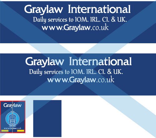 1:76 Graylaw international Cab and trailer decals