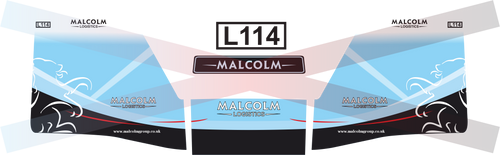 1.76 Malcolm Logistics Decals Volvo and trailer (vinyl)