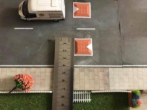 1:76 3D Printed Red Speed Bumps - 6pkt