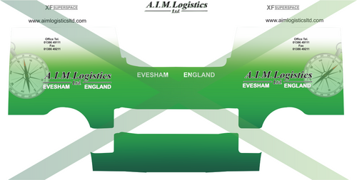 1:76 AIM Logistics Decals for Oxford diecast DAF