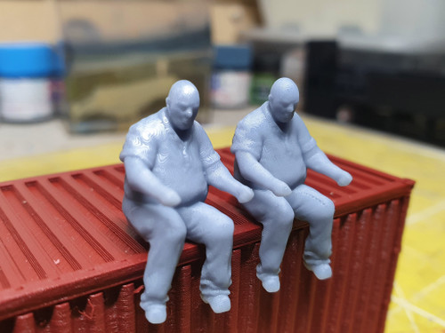 1:50 scale resin printed drivers (with shirt) 2 pack