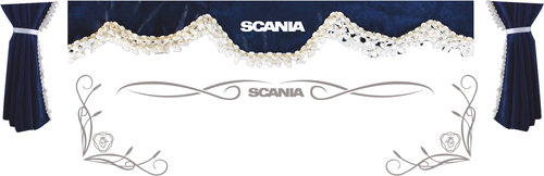 1:50 scale Scania Curtains and window tribals