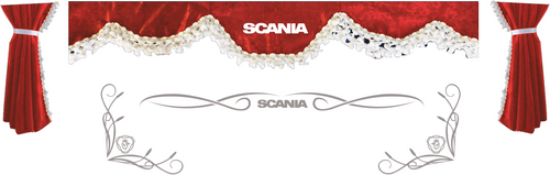 1:76 scale Scania Curtains and window tribals
