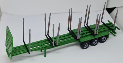 3D Printed 1:76 modular log trailer (Green) fits oxford diecast/Corgi