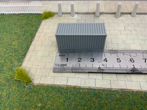 N scale SR Hobbies 3D printed 20ft Grey container 2pk