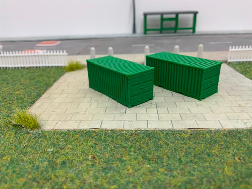 N scale SR Hobbies 3D printed 20ft Green container 2pk