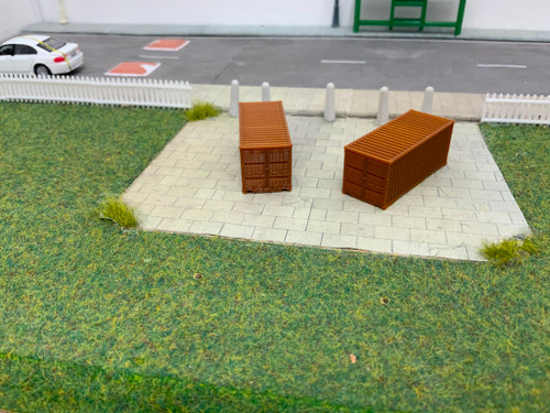 N scale SR Hobbies 3D printed 20ft Brown container 2pk
