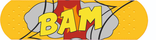 BAM comic car Sticker