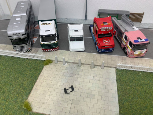 1:76 Scania Fire engine, T-Cab Mirrors *Injection moulded* x 6pk