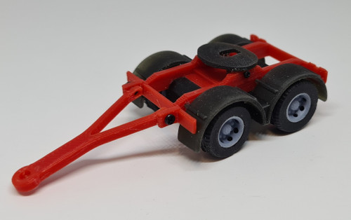 1.76 3D printed Trailer Dolly (Red)