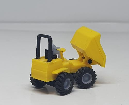1:148/N gauge 3D Printed dumper truck with driving figure