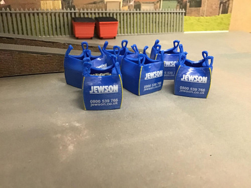 1:50 Scale, 3D Printed Jewson Ton Bag With Load.  6 pkt