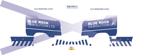 1:50 scale Blue Rock Demolition Decals for Next Gen Scania S series