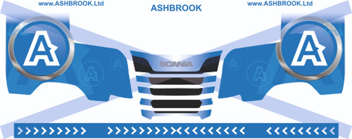 1:50 scale Ashbrook Decals for Next Gen Scania R series