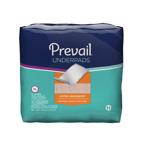 PREVAIL SUPER ABSORBENT UNDERPAD 30X30