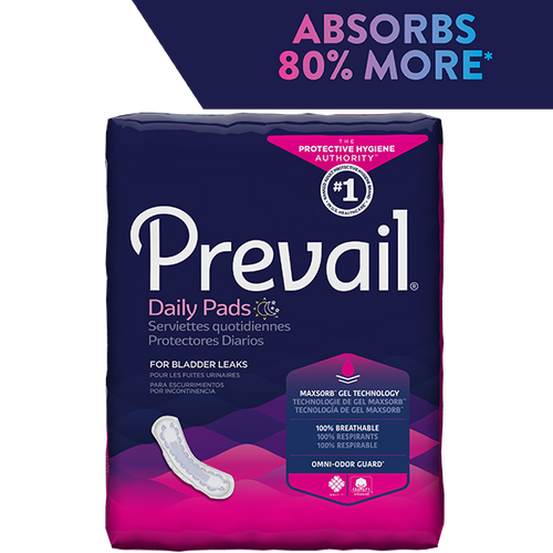 PREVAIL DAILY PADS, MODERATE 9.25""