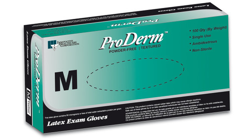 ProDerm™ Latex Exam Gloves (100/bx)