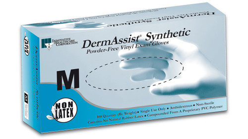 DermAssist® Vinyl Exam Gloves (Latex Free, 100/bx)