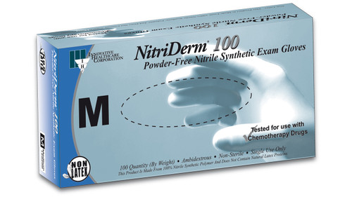 NitriDerm® 100 Nitrile Exam Gloves (Latex Free,100/bx)