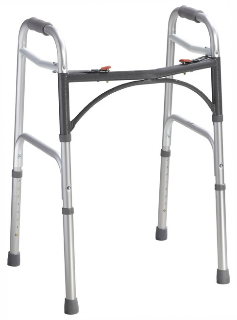 Adult  Deluxe Folding Walker, Two Button