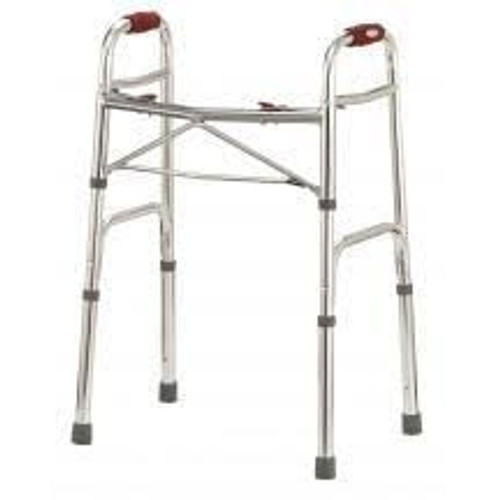 "DELUXE FOLDING WALKER TWO BUTTON WITH ""V"" BRACE"