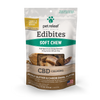 Photo of the front side of the 7.5-oz bag of Pet Releaf Small & Medium Breed Soft Chew Edibites - Peanut Butter Carob Swirl.