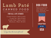 """Nature's Select  Lamb & Rice Paté Canned Food card with guaranteed analysis: """"For All Life Stages"""" Crude Protein. (Min) 9.00%, Crude Fat. (Min) 8.00%, Crude Fiber. (Min) 1.00%, Moisture. (Max) 78.00%. DOG FOOD - Natural Dog Food with Added Vitamins, Minerals, and Trace Nutrients. Crafted in the USA. Dogs love the taste of lamb!"""