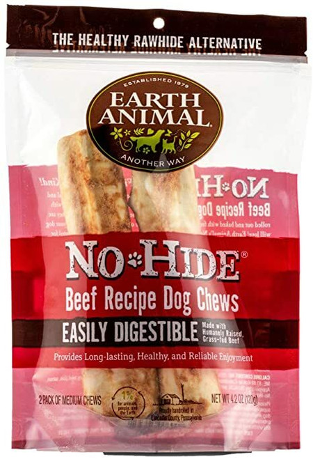 """Photo of the front side of the No-Hide Beef 4"""" (2-Pack) bag."""