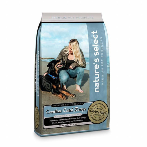 Image of a 28-lb bag of Nature's Select Grain Free Coastline Catch Recipe.