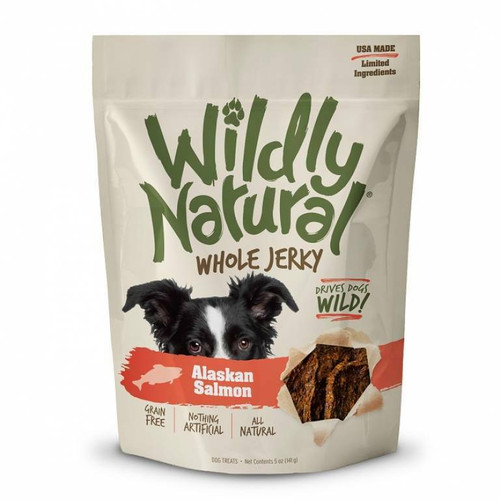 A photo of the front side of the bag of the Fruitables Wildly Natural Whole Jerky -  Alaskan Salmon.