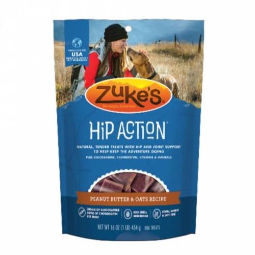 16-oz bag of Zuke's Hip Action Peanut Butter & Oats Treats