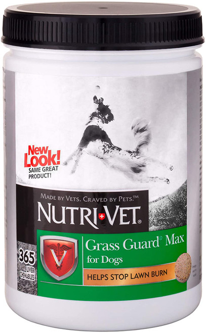Container of Nutri-Vet Grass Guard Max for Dogs, 365-Count.