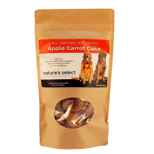 10-oz bag of Apple Carrot Cake dog  cookies.