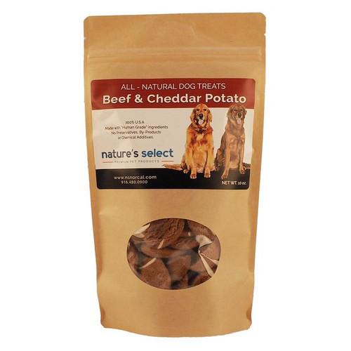 10-oz bag of Beef & Cheddar Potato dog  cookies.