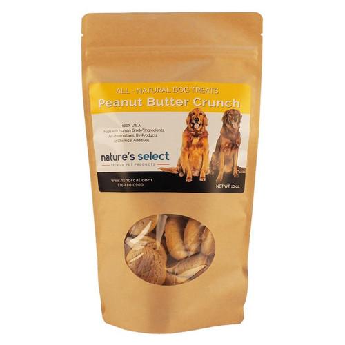 10-oz bag of Peanut Butter Crunch dog  cookies.
