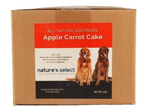 5-lb box of Apple Carrot Cake dog  cookies.