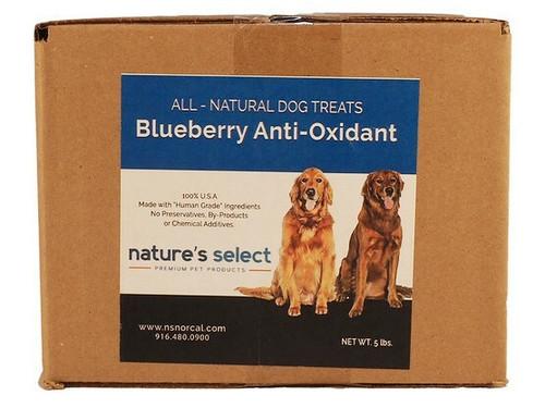 5-lb box of Blueberry Anti-Oxidant dog  cookies.