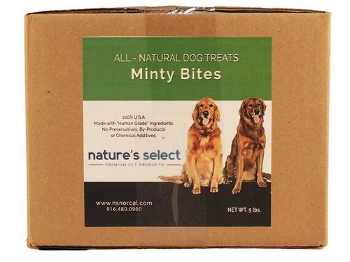 5-lb box of Minty Bites dog  cookies.