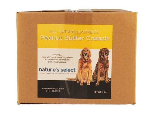 5-lb box of Peanut Butter Crunch dog  cookies.
