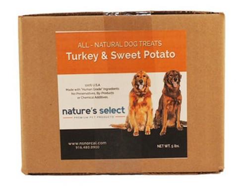 5-lb box of Turkey & Sweet Potato dog  cookies.