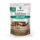 Photo of the front side of the 7.5-oz bag of Pet Releaf Large Breed Soft Chew Edibites - Peanut Butter Carob Swirl.