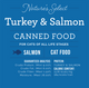 Nature's Select Nature's Select Chicken Paté Canned Food card with guaranteed analysis, meat protein source, and calorie content.
