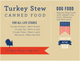 """Nature's Select Turkey & Sweet Potato Stew Canned Food card with guaranteed analysis: """"For All Life Stages"""" Crude Protein. (Min) 8.00%, Crude Fat. (Min) 5.00%, Crude Fiber. (Min) 1.50%, Moisture. (Max) 82.00%. DOG FOOD - Natural Dog Food with Added Vitamins, Minerals, and Nutrients. Crafted in the USA. Turkey is always a tasty treat."""