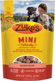 Photo of the front side of a 16-oz bag of Zuke's Mini Naturals Salmon.