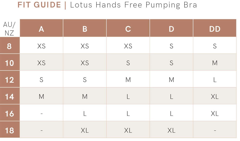 Lotus Hands Free Pumping Bra - Blue fit guide