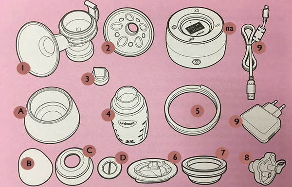Unimom Minuet Breast Pump Parts