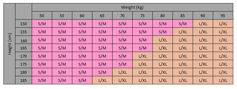 Opaque Maternity Tights Size Guide for Height and Weight